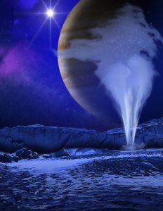 identification panaches europe geysers lune jupiter vue artiste