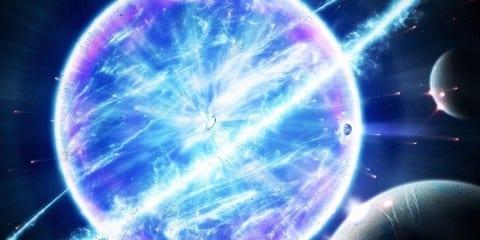 supernova explosion vue artistique
