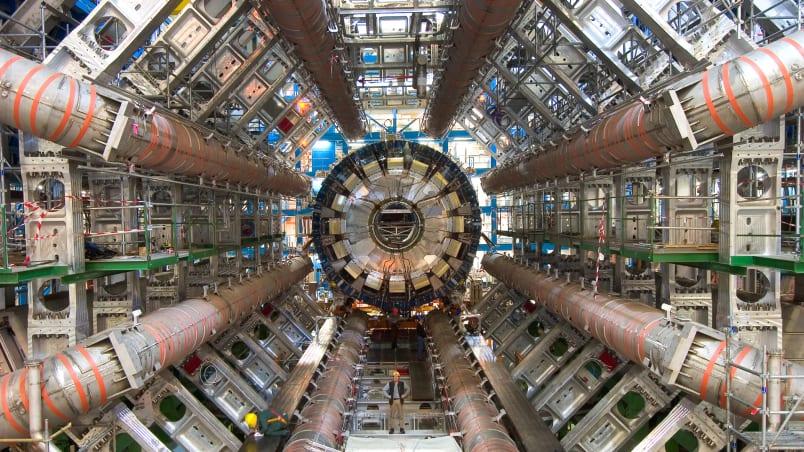 LHC accélérateur particules matière noire