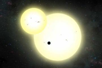 kepler 1647 b vue artiste artistique découverte kepler planète circumbinaire deux soleils