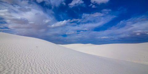 white sand dunes nouveau mexique sable gypse désert