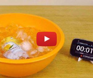 recette méthode boisson fraiche en 2 minutes secret congeler rapidement refroidir sel