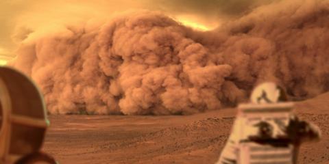 annonce tempete de sable sur mars nasa