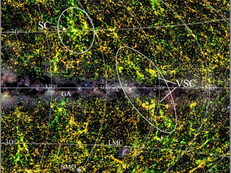 superamas galactique galaxie
