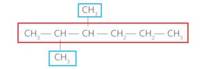 molécule acyclique ramifiée