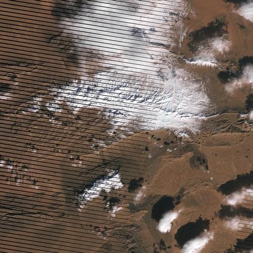 neige sahara désert