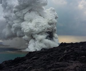 gas hawaii ocean lave effondrement