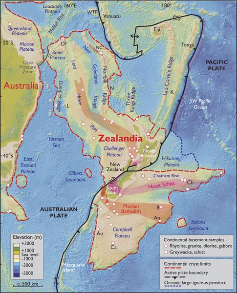 detail terre geologie zealandia