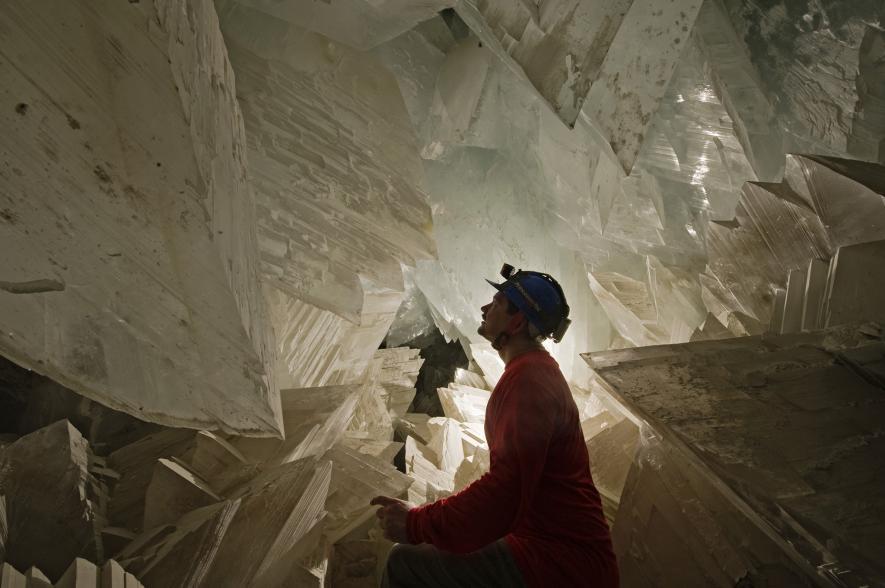 mine naica cristaux crystal microbe vie