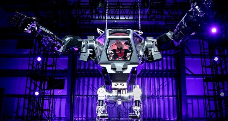 Hankook Mirai Technology robot bipede geant lourd technologie robotique