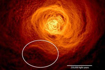 onde Kelvin Helmholz amas de galaxie baie galactique années lumières