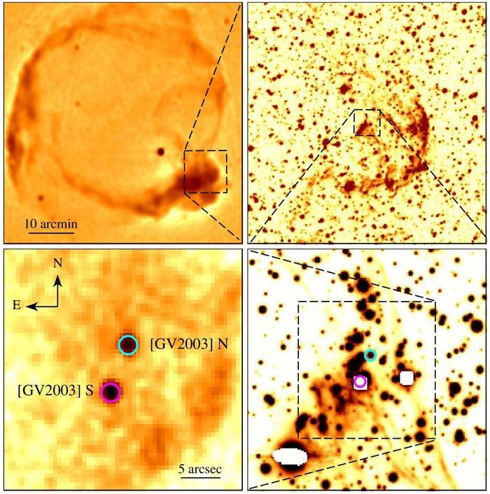 supernova remanent reste gaz bulle interstellaire calcium