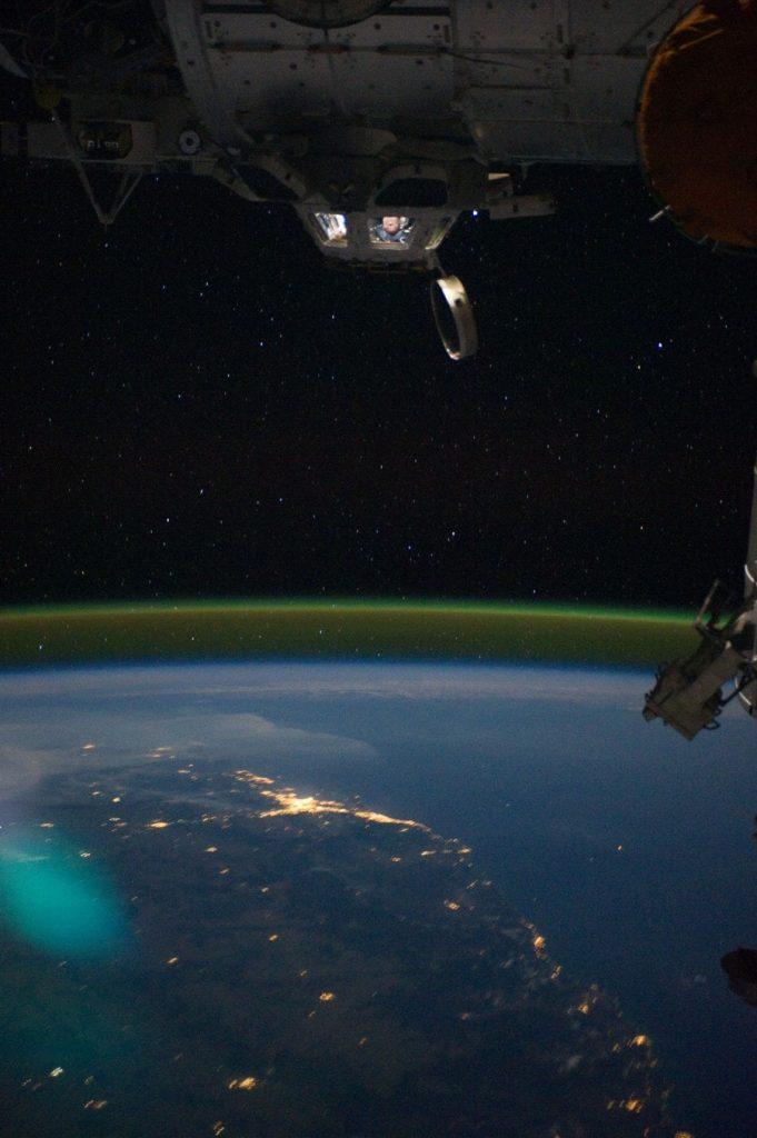 lueur air ISS ciel nocturne