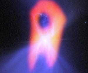 nebuleuse boomerang étoile naine géante rouge jaune ALMA telescope Chili temperature extreme titre