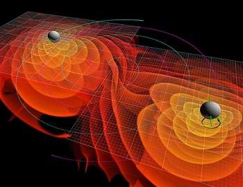 simulation-emission ondes gravitationnelles