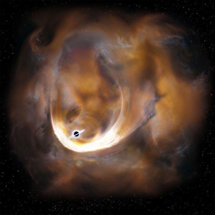 trou noir intermédiaire massig voie lactée galaxie nuage moléculaire gaz