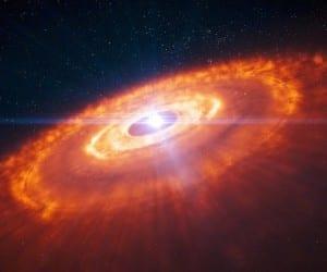 ALMA HL étoile wallpaper planète création
