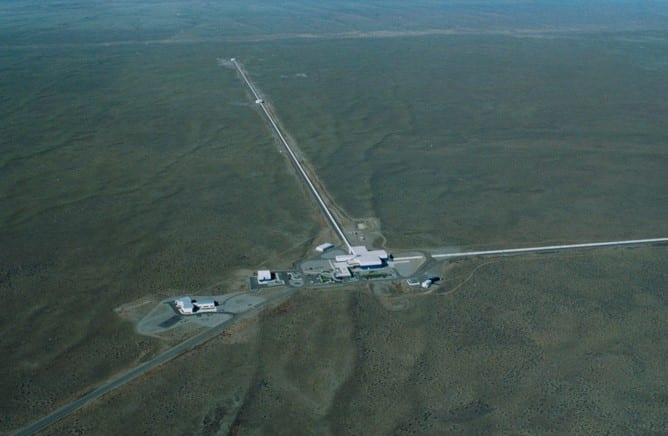L'observatoire LIGO a Livingston, en Louisianne.