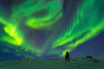 aurore boréale borealis aurora hd pôle nord
