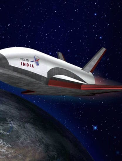 isro space shuttle rendu prototype