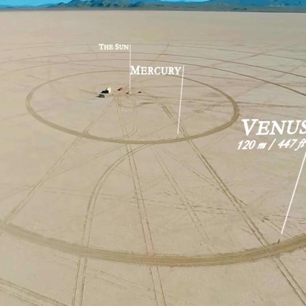 systeme solaire désert nevada venus échelle