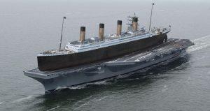 rms titanic comparaison porte avion