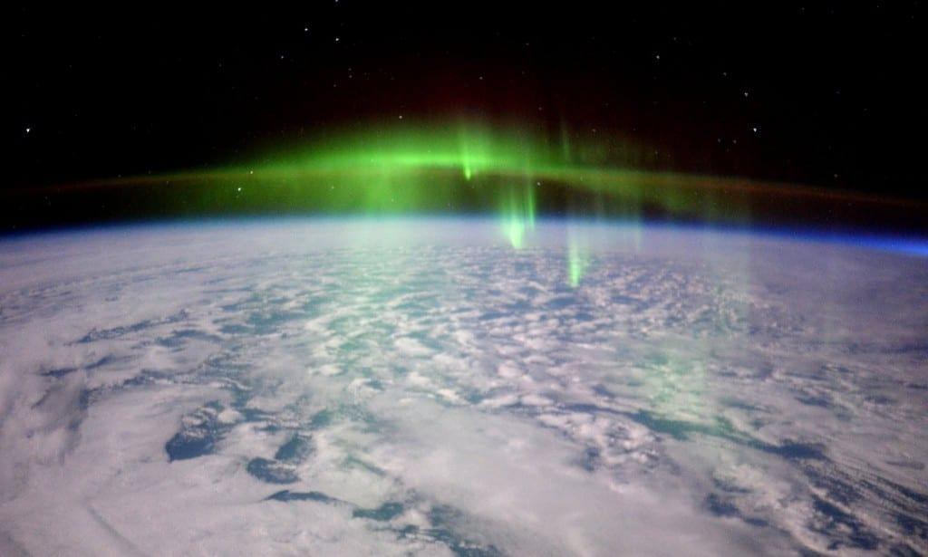 aurores boréales boreales espace ISS