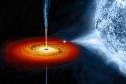 quasar trou noir trous noirs supermassif espace disque accrétion univers géant