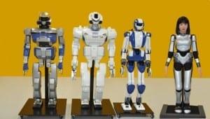 hrp-2 hrp-3 hrp-4 hrp-4c kawada robots humanoides humanoïdes airbus