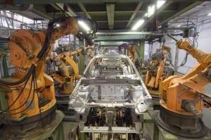 bras robotique chaine montage emplois perte automobile