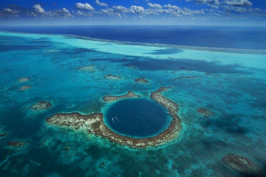 barrière corail, australie, ciel, yann arthus bertrand