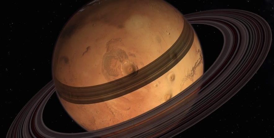 mars anneaux anneau ring rings phobos