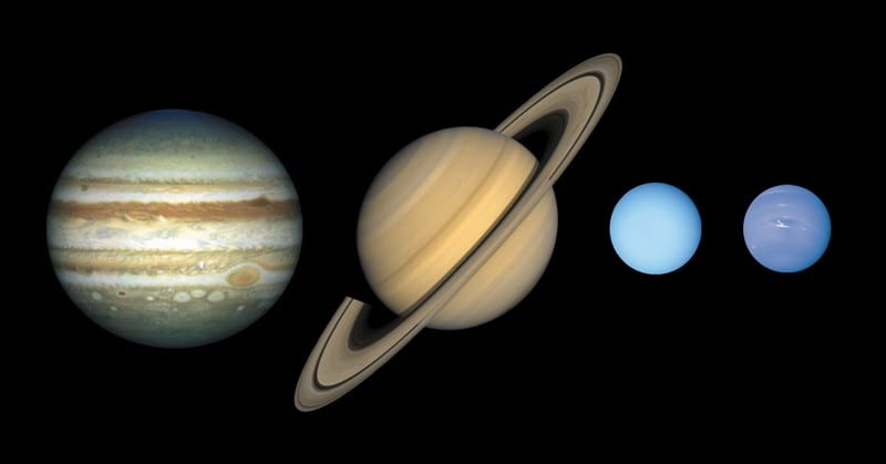 planètes gazeuses uranus neptune saturne jupiter