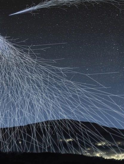 rayons cosmiques rayon cosmique représentation artistique