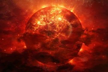 Soleil terre planète étoile géante rouge