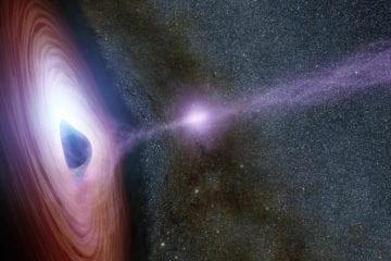 trou noir supermassif rayons x vue artistique