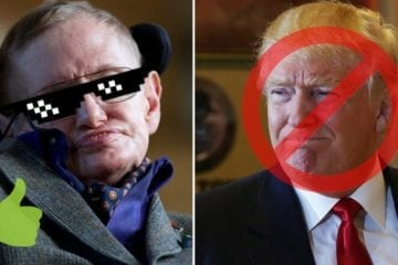 Physicien Stephen Hawking contre trump genius