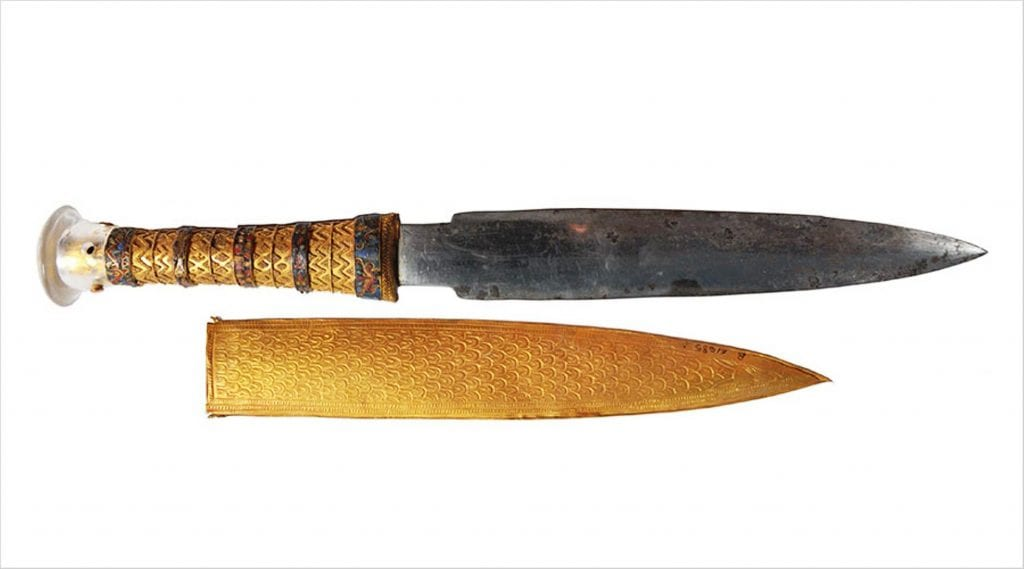 lame dague toutankhamon météorite sidérite