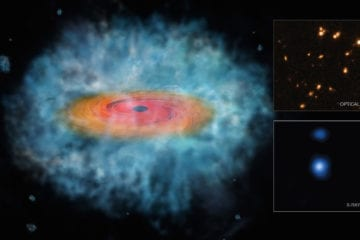 graines trous noirs supermassifs hubble chandra x-ray visible light
