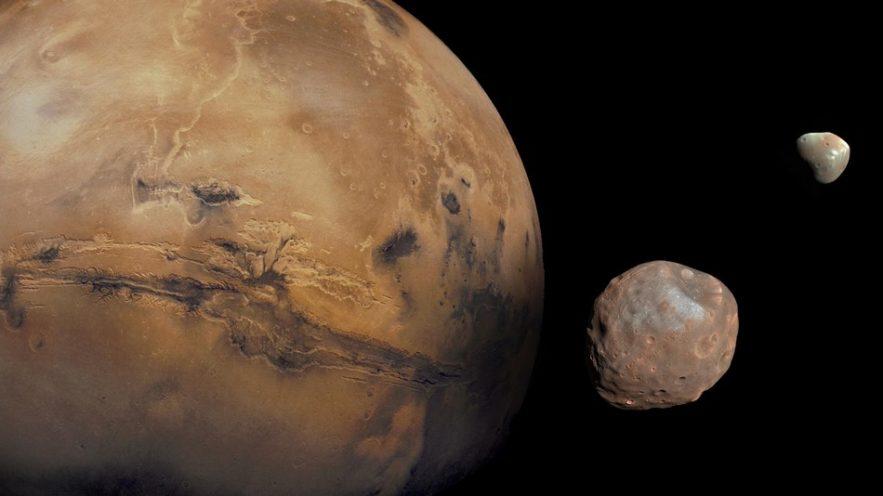 mars satellites naturels impact naissance