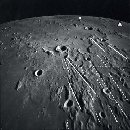 rainures imbrium mer des pluies lune astéroïde
