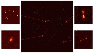 MeerKat meerkat radio telescope radiotélescope antenne afrique du sud image galaxies zoom détails details