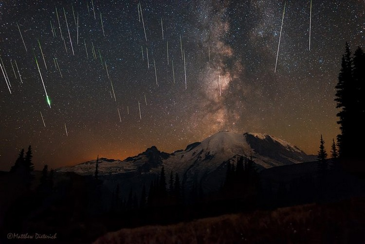pluie météores ciel août météorites perséides persée constellation étoiles filantes