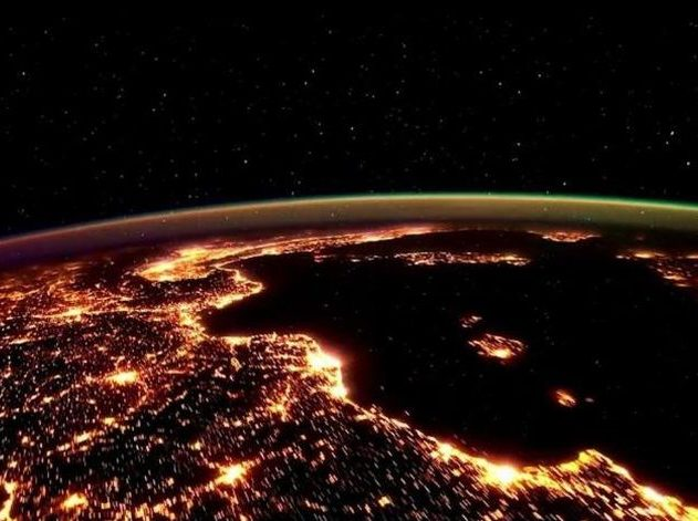 terre espace satellite vue du ciel nasa nuit espace système solaire planète tellurique