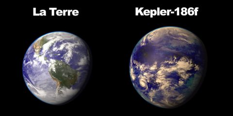 comparaison terre kepler 186f taille nasa planète habitable