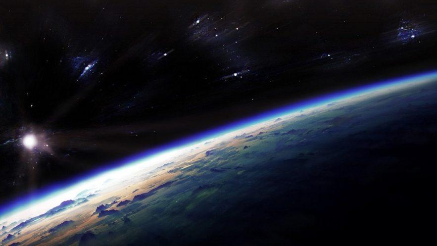 atmosphère terre terrestre oxygène dioxyde de carbone espace