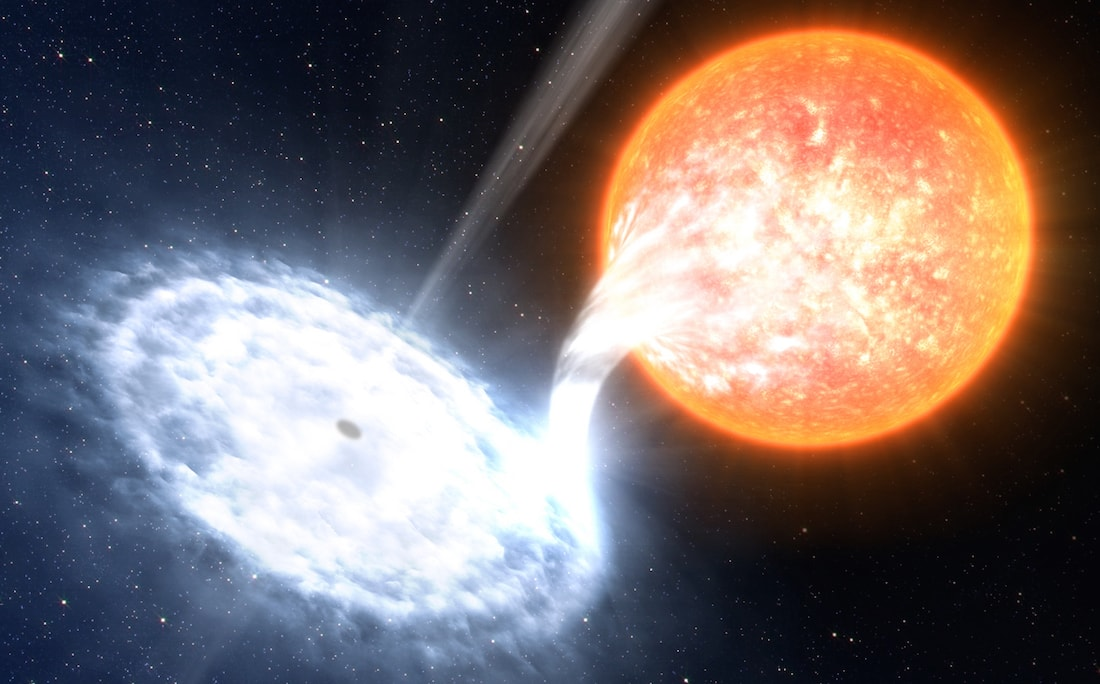 trou noir flare destruction etoile