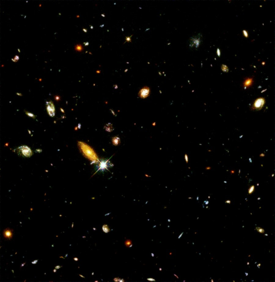 champ profond hubble nasa telescope spatial galaxies