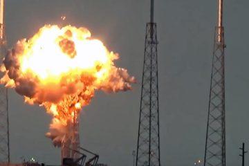 explosion lancement space x