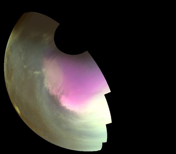 nasa maven pole sud mars ultraviolet ozone